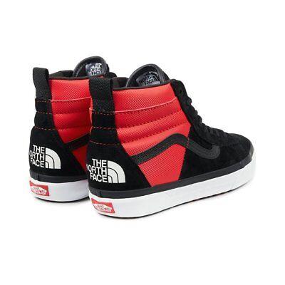 Vans The North Face MTE DX TNF Sk8 Hi Red Black Skate Shoes Men's 7.5 Women's 9