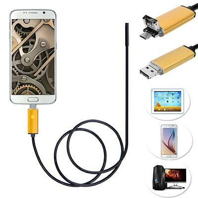 2 in 1 Android USB Endoscope Inspection  Camera 6 LED HD IP67 Waterproof 2M Hot