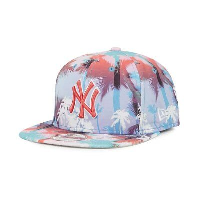 S30 NEW ERA OFFICIAL NEW YORK NY YANKEES MIAMI VIBE Strapback Baseball Cap M/L