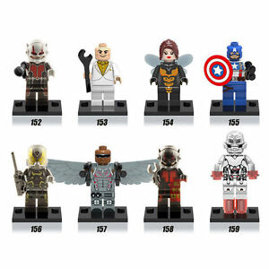 Marvel mini figures (works with lego) lot of 8 figures $20