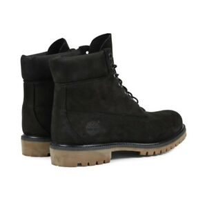 Timberland 6inch Black Nubuck boots Size 9 Good Condition