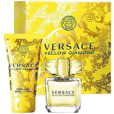 Versace Yellow Diamond Eau de Toilette 90ml Spray + 100ml b/lotion New