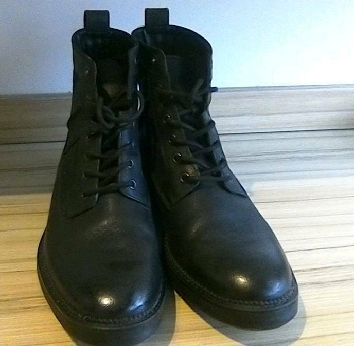 074b5239b6b Size 12 Men's Black Leather Lace-up Boots   in Hamilton, South Lanarkshire    Gumtree