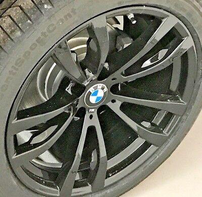 "BMW OEM M Double Spoke E70 E70 F15 X5 E71 E72 F16 X6 Style 469 20"" Black Wheels"
