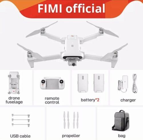 Fimi X8 SE 2020 8KM FPV 4K Camera GPS RC Drone Quradcopter RTF+2*Batteries+Bag