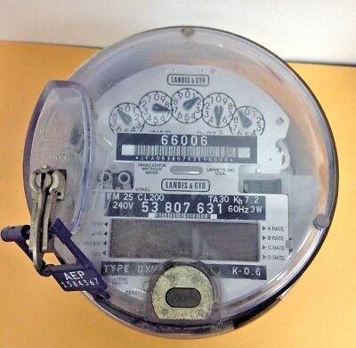 Landis Gyr Type Dxmx-2s Kilowatthours Meter Used