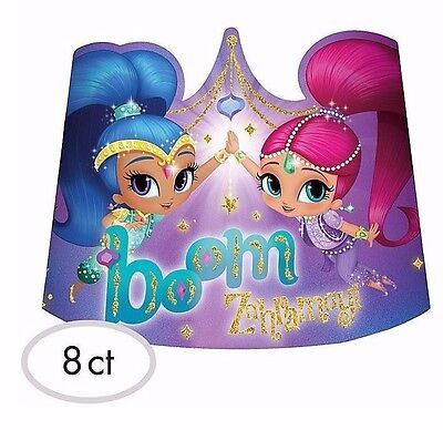 SHIMMER and SHINE Genies Paper Tiaras Birthday Party Supplies Favors Hats Crowns](Birthday Tiaras And Crowns)