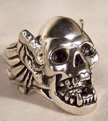 Vampire Skull Wings Biker Ring Br203 Heavy Silver Novelty Fashion Jewelry