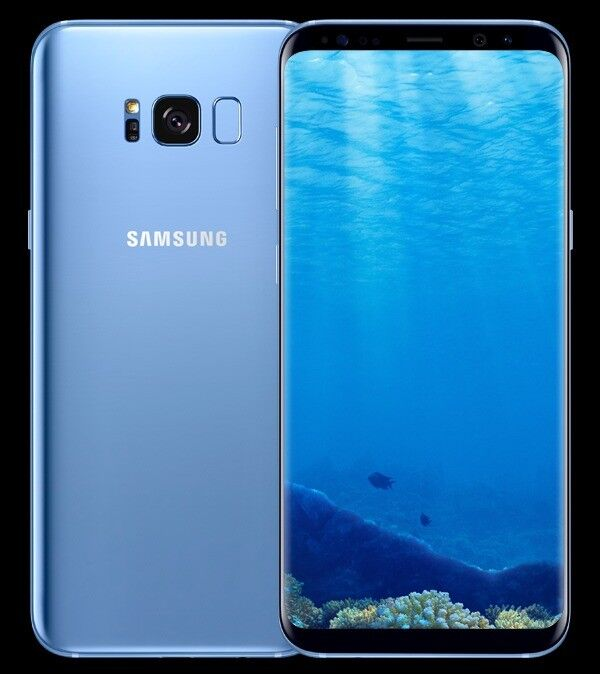 Samsung Galaxy S8 + Plus - 64GB - Coral Blue - 2 months old - Crack on the back