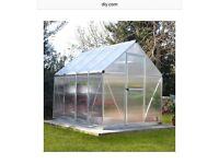 Mythos 6 X 8 polycarbonate green house
