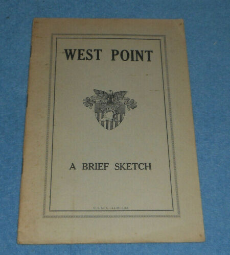 1939 West Point A Brief Sketch Booklet US Military Academy
