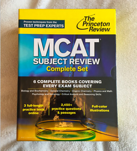 PRINCETON REVIEW MCAT COMPLETE BOX SET, 1st EDITION (USED)