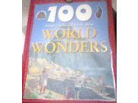 100 world wonders hardback book.