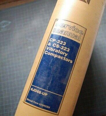 Cat Caterpillar Cpcs-323 Compactor Roller Repair Shop Service Manual Operators