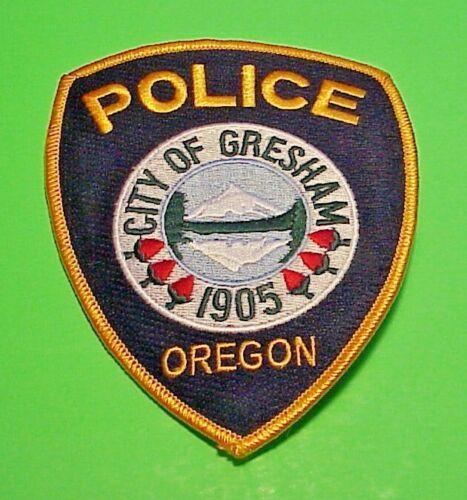 "GRESHAM  OREGON  1905  OR  4 3/4""  POLICE PATCH  FREE SHIPPING!!!"