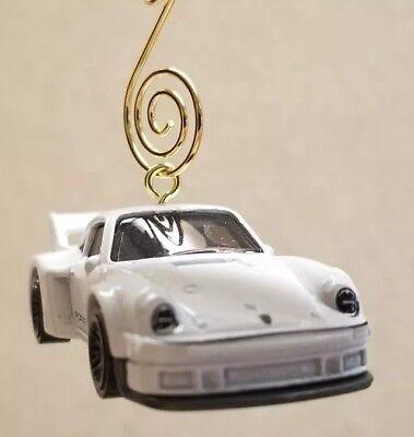 Custom Diecast Race Cars (1977 Porsche 934.5 Race Car White Custom Diecast Christmas Ornament FREE SHIP )
