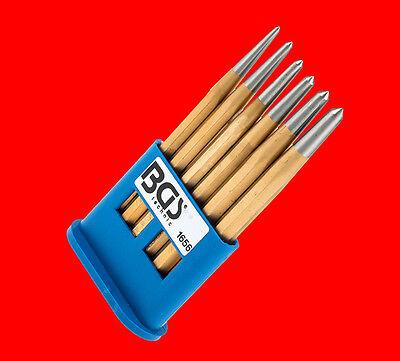 6 tlg. Qualitäts Körner Satz Ankörner Durchschlag / Gr. 3mm - 8mm in 150mm Länge