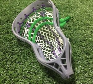 Lacrosse stick stringing