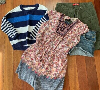 4 Piece Lot of Nice Clean Girls Size 12 Spring Summer Clothes - Nice Girls Clothes
