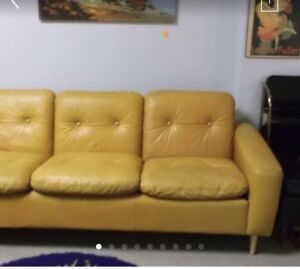 Antique Retro Leather Sofa and chair