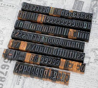 A-z Alphabet 1.42 Letterpress Wooden Printing Blocks Wood Type Vintage Print