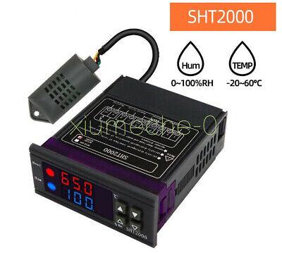 10a Sht2000 Temperature Humidity Controller Hygrometer Thermostat Sensor New