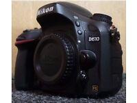 Nikon D610 full frame DSLR camera 24.3MP excellent condition.
