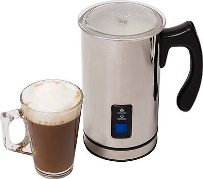 Electric Milk Frother & Warmer 250ml, For Hot and Cold Milk, Latte & Cappuchino