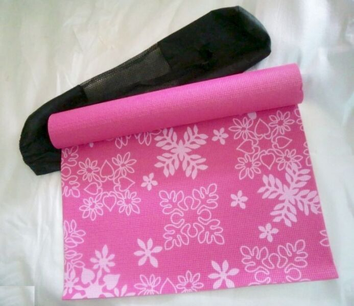 ~~~ No FRiLLs  YoGa/Exercise/Gym MaTT (Pink Floral)$18~~~