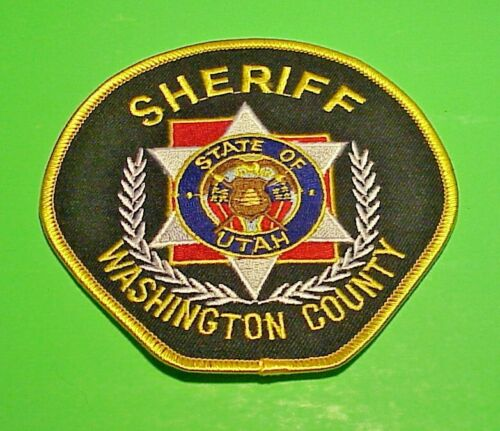 "WASHINGTON COUNTY  UTAH UT SHERIFF 4 1/4""  POLICE PATCH  FREE SHIPPING!!!"