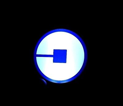 Bright Glowing 2018 New Uber Led Light  Car Logo Wireless Signs Free Batteries