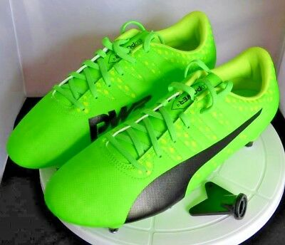 Puma EvoPower Vigor 4 SG Football Boots in Green, Size Uk 8.5, Free P&P .