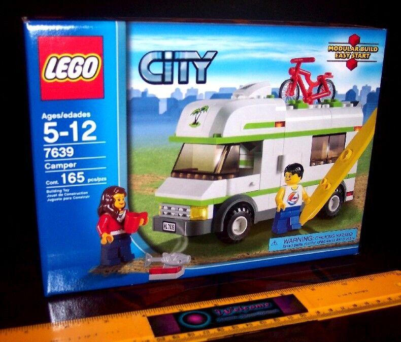 LEGO 7639 CITY TOWN CAMPER MOTORHOME CARAVAN VAN FISHING CAMPING MISB BRAND NEW