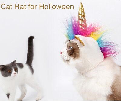 Pet Halloween Unicorn Costume Lovely Dog Cat Color Party Headgear Beast Clothing](Unicorn Dog Costume)