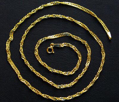 Goldkette 333 echt Gelbgold Kette Mädchen Kinder schöne Singapur 8 Karat Gold