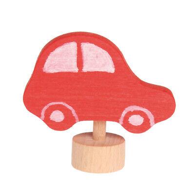 Grimm's Stecker rotes Auto spielzeug, kindergeburtstag, dekoration, Holz NEU! ()