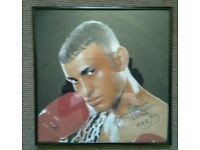 Naseem hamed singed t shirt in frame