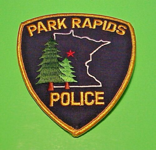 "PARK RAPIDS  MINNESOTA  MN  4 1/2""  POLICE PATCH  FREE SHIPPING!!!"