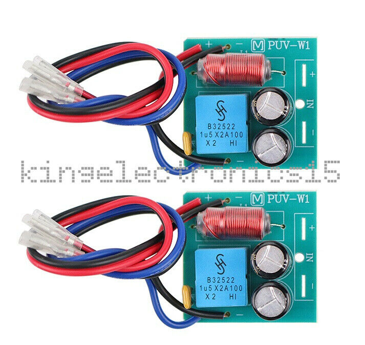 2PCS 2 Way 60W  Speaker Crossover Board Bass Tweeter Frequency Divider L