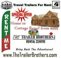 Travel Trailers available for RENT