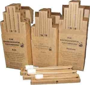 Environmental Toothbrush Bamboo Oral Care Eco Dental Adult Medium Box of 12