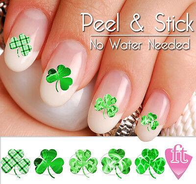 St. Patrick's Day Shamrock Four Leaf Clover Nail Art Decal Sticker Set - St Patrick's Day Art