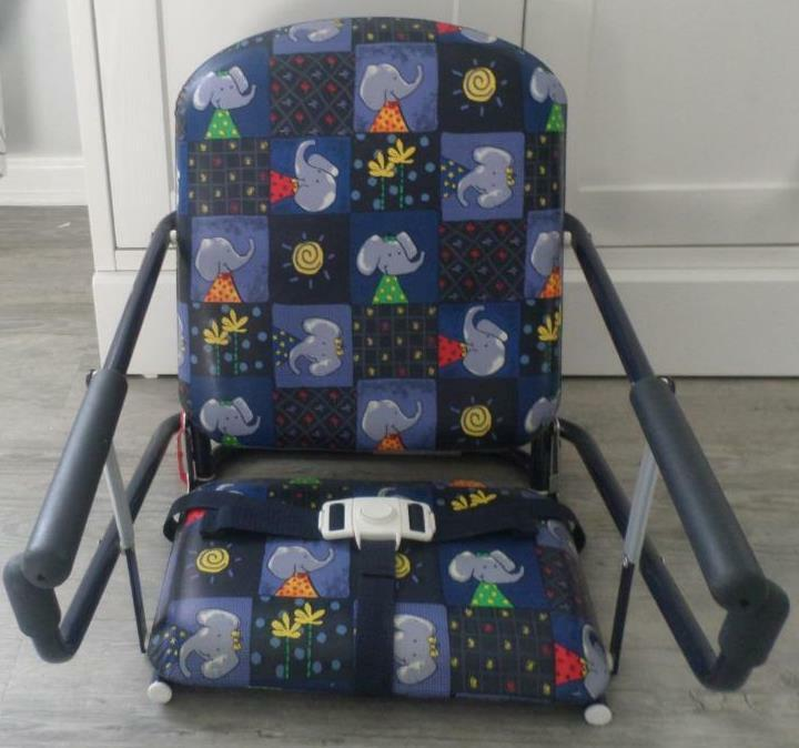 Graco Tot Loc Chair Portable Fold Easy Storage Elephant Rare Seat Belt