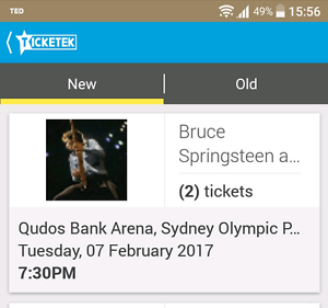 PRICE DROP FOR URGENT SALE!2x Bruce Springsteen tix, Sydney 07Feb Dickson North Canberra Preview