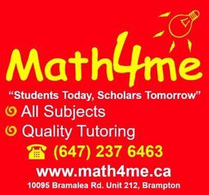 Math Science French English Tutor - Brampton Free Registration