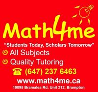 Math Science French English Exams Tutor - 3 locations Brampton