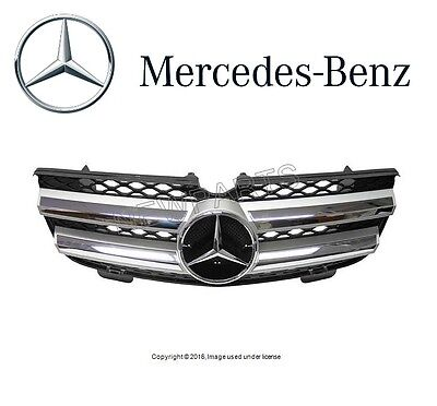 NEW Mercedes X164 GL-Class Front Center Grille Assembly Brilliant Silver Genuine