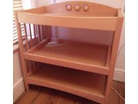 Mamas and papas wooden changing unit