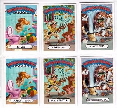 2017 GARBAGE PAIL KIDS BATTLE OF THE BANDS BATHROOM BUDDIES SET 6/6 CARDS