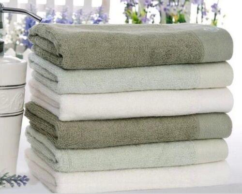Pure Color Bamboo Fiber Natural Organic Bathroom Towel Hand